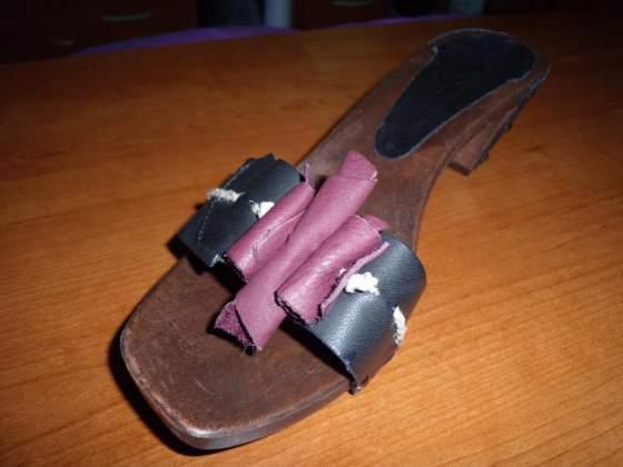 Sandali artigianali in pelle in scatola originale nuovi