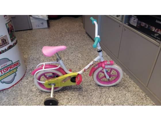 Bicicletta bambina 10 pollici con rotelle