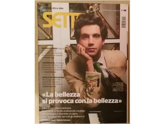 Mika copertina rivista sette corriere della sera