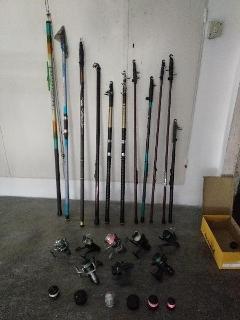 Set canne da pesca e mulinelli