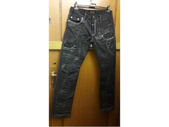 Jeans uomo size ) Col. Nero con scritte bianche.