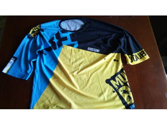 "T-shirt ""Double3"" mountain bike, downhill tg.L/XL"