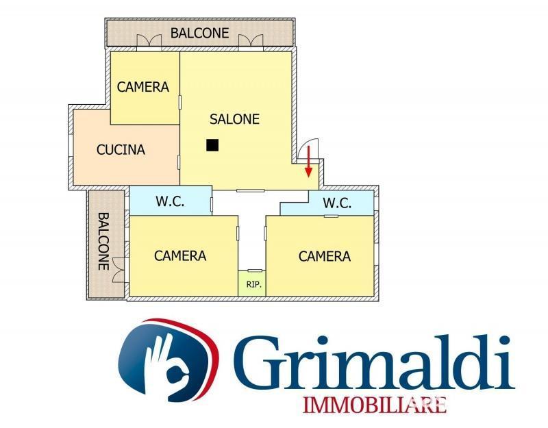 Appartamento quadrilocale 110 mq