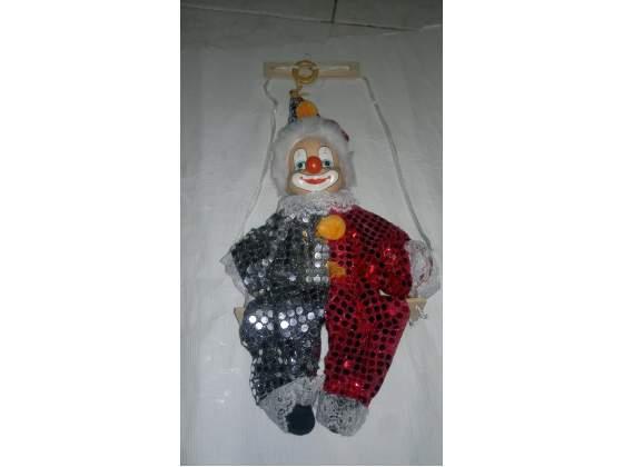 Clown con testa in porcellana