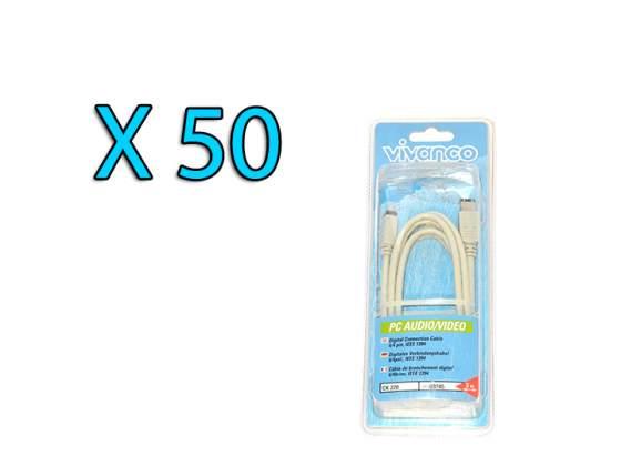 STOCK LOTTO 50 Cavi Firewire 4/6 pin 2mt Vivanco