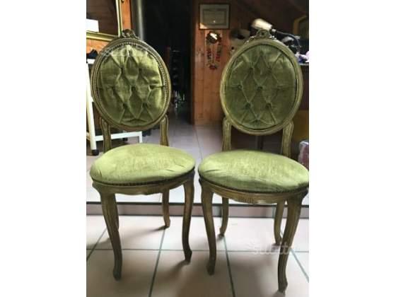 Coppia di sedie Vintage stile Rococò