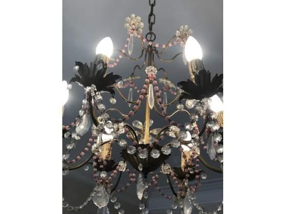 Lampadario in cristallo vintage shabby chic