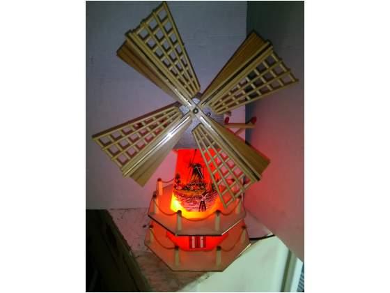 Mulino a vento luminoso con carillon anni 50
