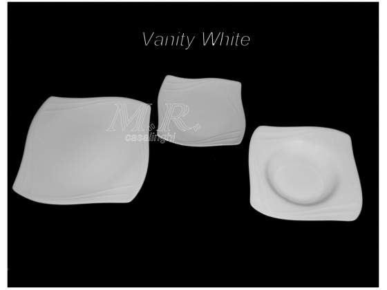 Set piatti porcellana bone china vanity white 36 pz.