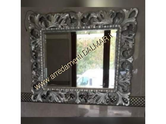 Trittico in foglia oro argento napoli posot class for Specchio barocco argento