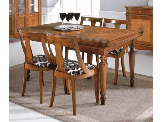 Tavoli allungabile cod 002 a serrandina in legno massello