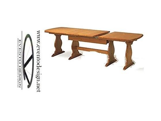 Tavolo fratino allungabile da 160 a 250 in legno massello