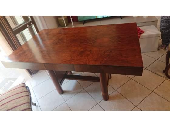 Tavolo radica di noce stile 800' con 4 sedie