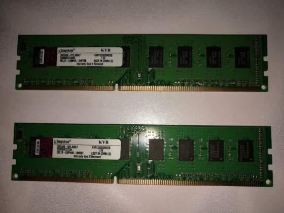 4GB (2x2GB) MEMORIA DDR MHz KINGSTON