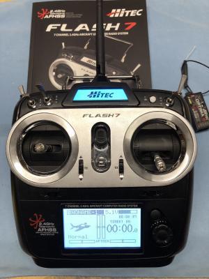 Radiocomando HITEC FLASH 7 con 2 riceventi