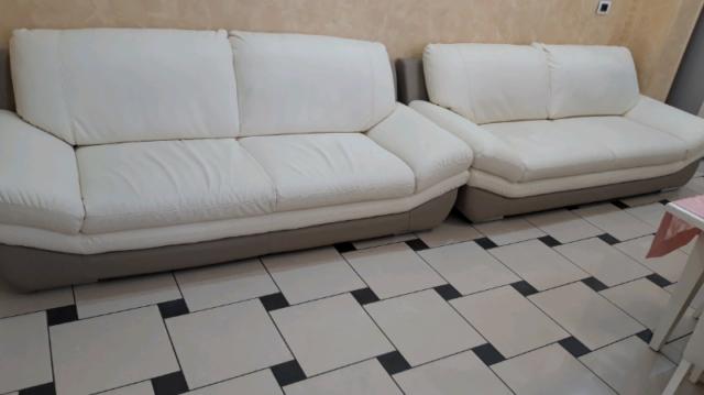 2 divani in pelle bicolore come nuovi