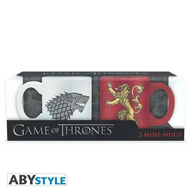 Gw jm game of thrones - set 2 mini-mugs - 110 ml -