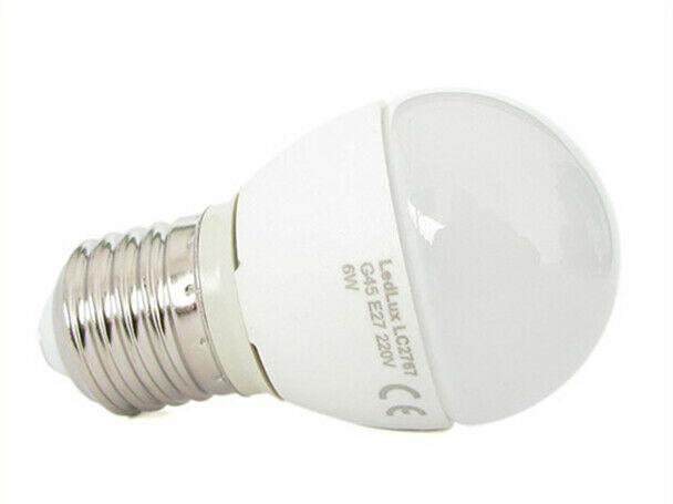 Lux lcc lampada a led e27 g45 6w bianco caldo forma