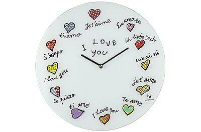 Orologio muro d38 vetro love