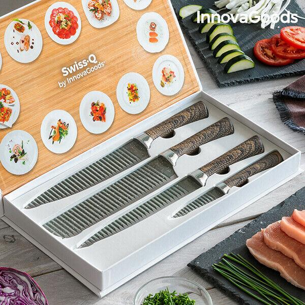 Set di coltelli namiutsu wood & stone swiss·q innovagoods