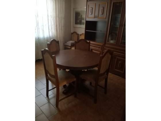 Tavolo tondo allungabile + 6 sedie
