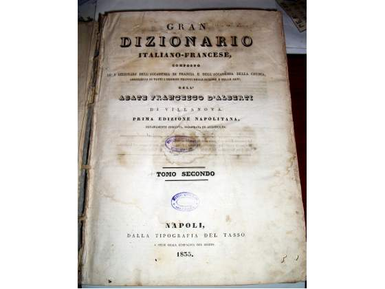 Dizionario italiano francese dell'abate francesco d'alberti