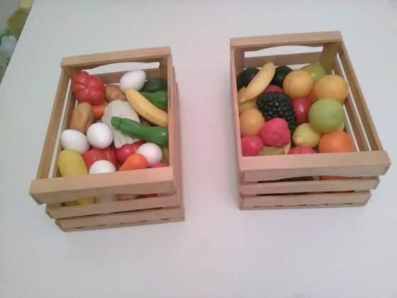 Frutta e verdura in cassette