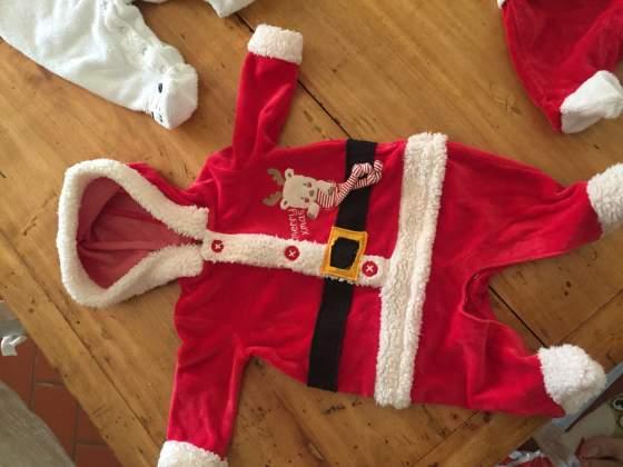 Tuta tutina Natale natalizia 0 3 mesi Neonato babbo Natale