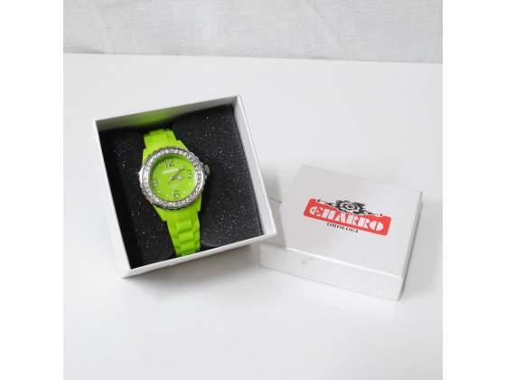CHARRO Orologio donna idea regalo verde silicone brillantini