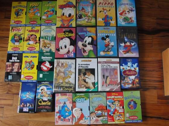 Videocassette walt disney e altro