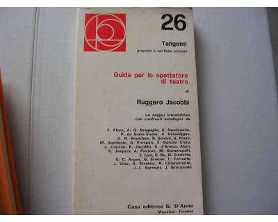 Guida per lo spettatore di teatro - R. Jacobbi