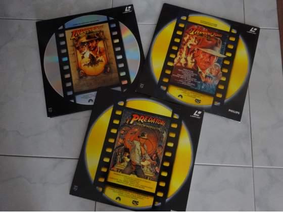 I 3 Laser Disc della Saga di Indiana Jones