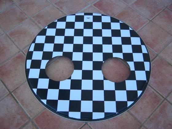 """Pelle risonante per cassa 22"""" chess custom made in u.s.a."""