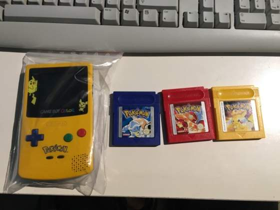 Pokemon gameboy nintendo game boy giallo rosso blu ecc