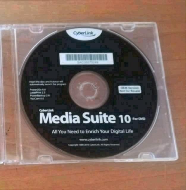 Cyberlink media suite 10 (disponibilità 2 pz)
