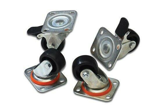 Gw jm set 4 ruote (due bloccabili) per armadi rack