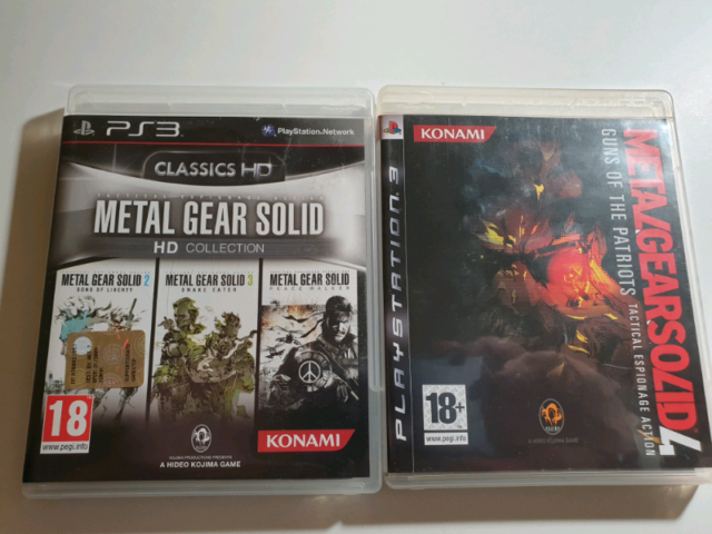Metal Gear Solid Collection Blocco PS3