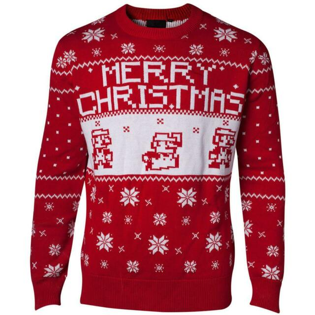 Nintendo - knitted x-mas sweater - 2xl jumpers m red