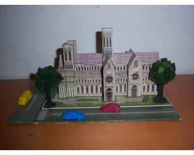 Gioco educativo wooden magnetic puzzle Licoln Cathedral