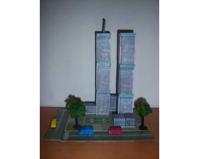 Gioco educativo wooden magnetic puzzle World Trade Center
