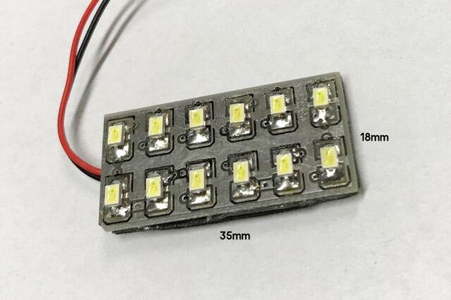 Lux abc487r pannello plafoniera lampada led 12v 1,5w con 12