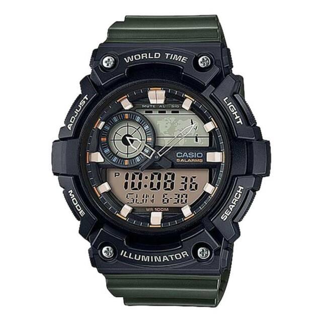 Casio aeq-200w-3av orologio uomo al quarzo