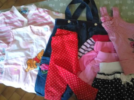 9 pezzi in stock di abbigliamento bimba usato estivo