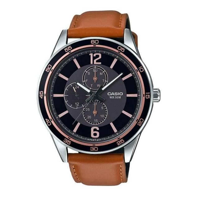 Casio mtp-e319l-1b orologio uomo al quarzo