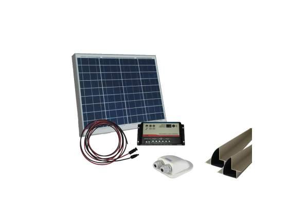 Kit solare Camper Pannello 80W regolatore di carica e MC4