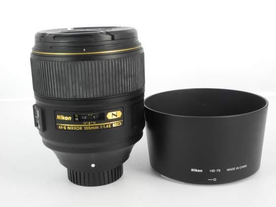 Nikon af-s nikkor 105mm f/1.4 e ed if n swm & hb-79