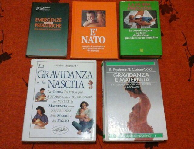 N. 5 libri gravidanza nascita puericultura