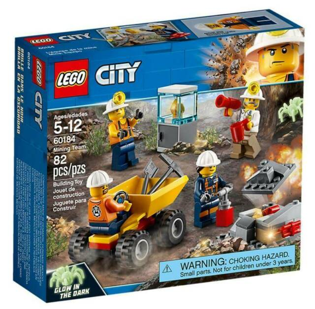 Gw jm lego city  - miniera: team della miniera -