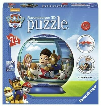 Gw jm paw patrol puzzle 3d ball - ravensburger