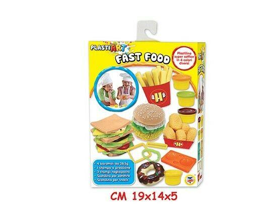 Gw jm plasti art - fast food - set 4 barattoli -
